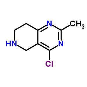 분자 구조 of 944901-71-7 (4-chloro-2-methyl-5,6,7,8-tetrahydropyrido[4,3-d]pyrimidine)